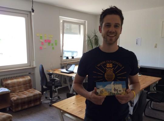 Dominik Dresel, Wahlberliner aus dem Allgäu zum Coworken in der Gründervilla