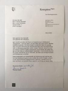 Kemptens OB Thomas Kiechle würdigt Gründervilla
