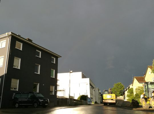 Gründervilla Programm August 2017 - Regenbogen & Baustelle