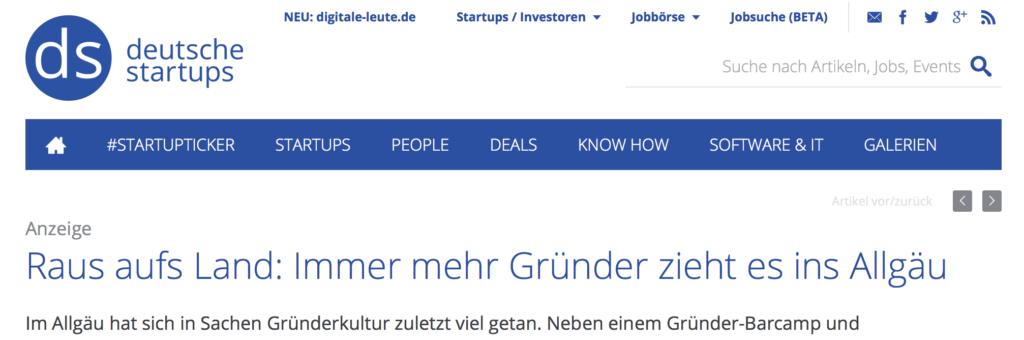Gründervilla Programm September 2017 - Deutsche-Startups.de
