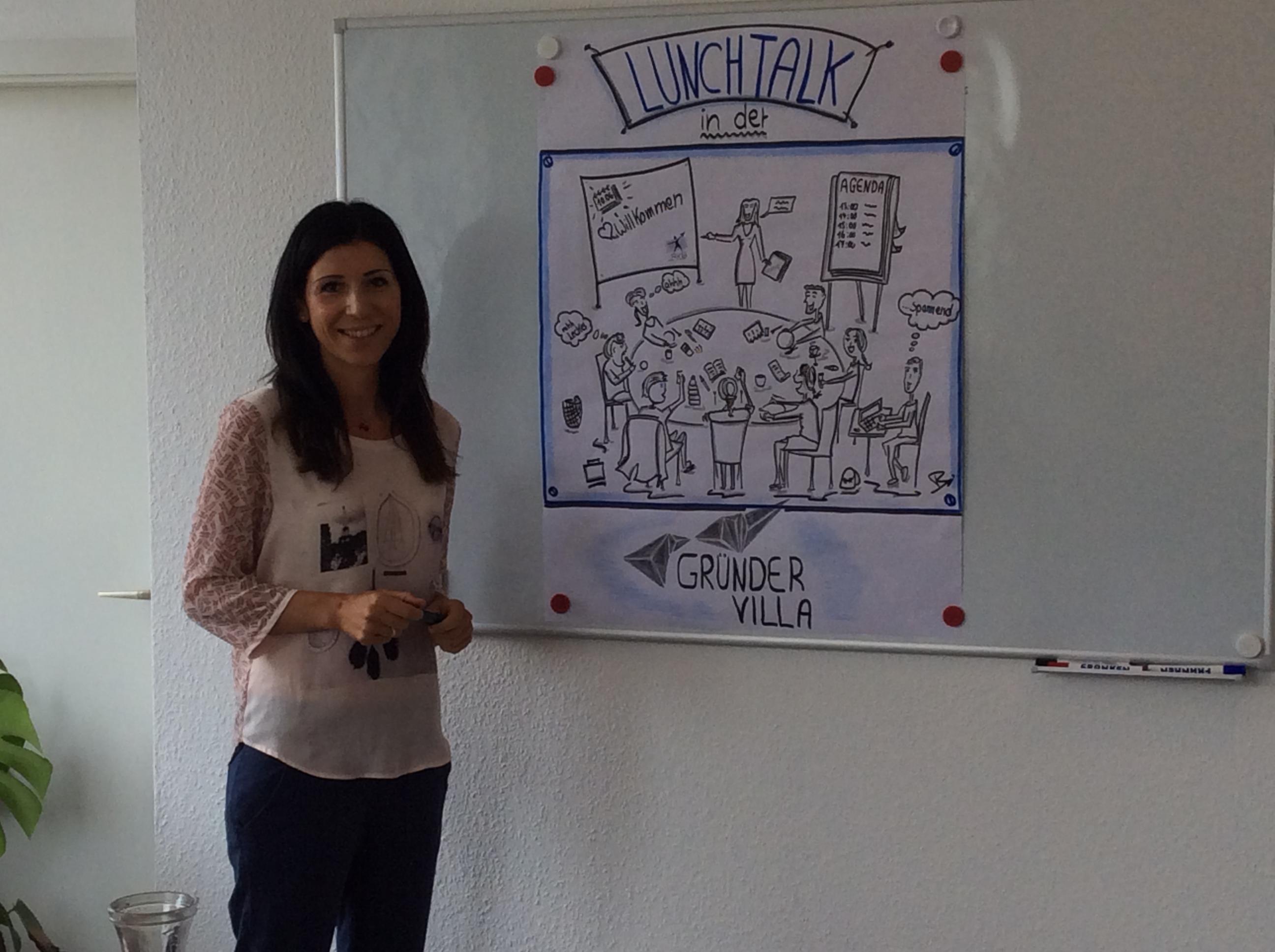 Rita Katharina Biermeier präsentiert ihr Unternehmen