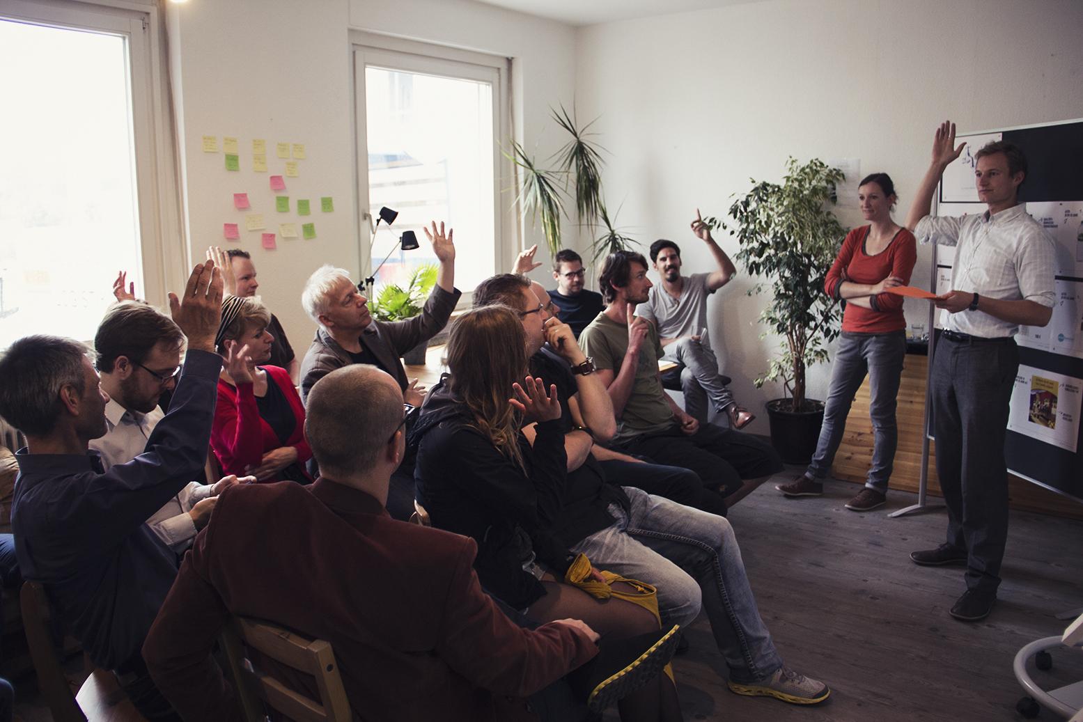Formkraft-Sitzung in der Gründervilla