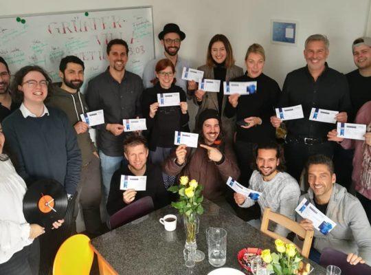 Gründervilla Programm April 2019 - My Vinyl - Patenschaft für Schülerstartup - Allgäu Gymnasium Kempten
