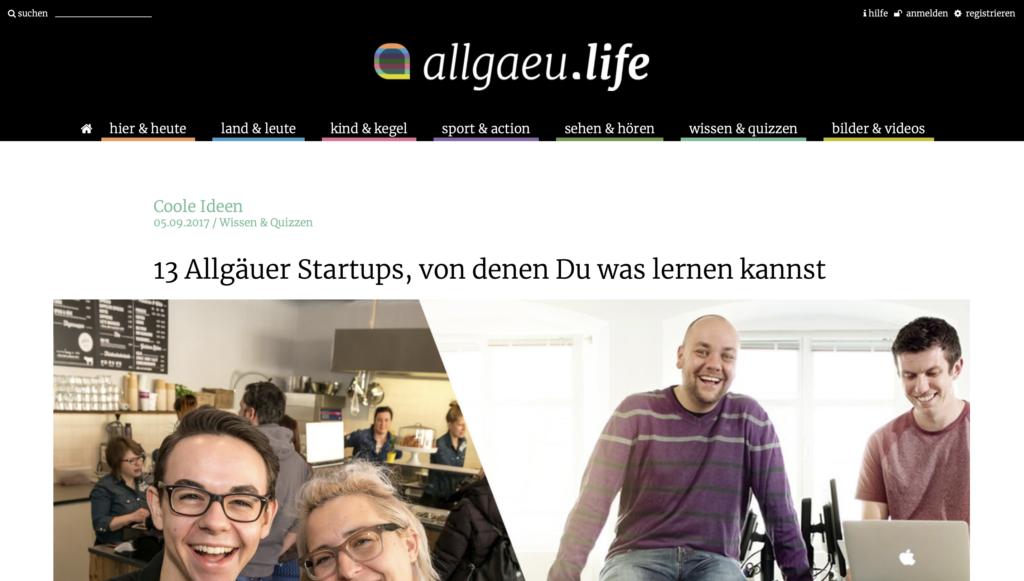 Gründervilla Programm März 2019 - Beitrag allgäu.life - 13 Dinge die du von Allgäuer Startups lernen kannst